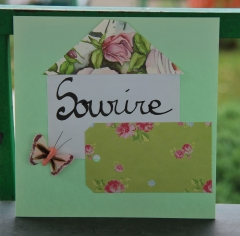 recyclage, carte, papier, lettrage