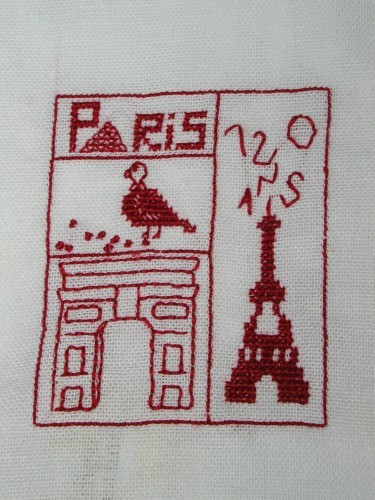 serviette de table Paris.JPG
